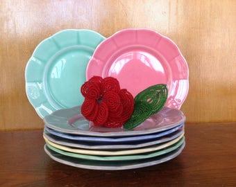Set of 4 Vintage WS George Petalware Plates