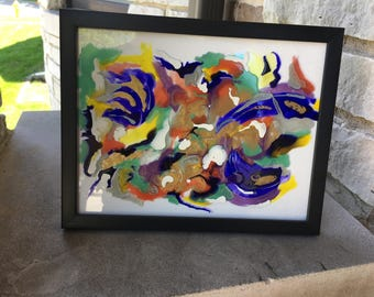 Abstract Glass Painting No. 1