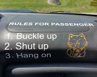 Rules for Passenger Decal