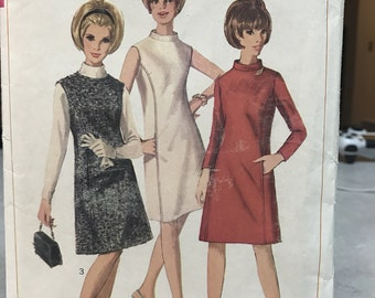 Simplicity 6676 Vintage Dress Sewing Pattern