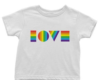 LGBTQ Love Shirt | Organic Toddler Tee | Kids Pride Shirt | LGBT Shirt Kids | Kids Gay Pride Shirt | Love Is Love Shirt | Equality March