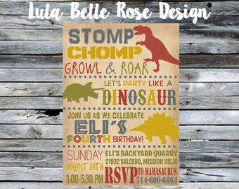 Dinosaur Birthday Invitation, Dinosaur Invitation, Dinosaur Printable Invitation, Dinosaur Invite, Dinosaur Party
