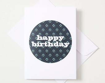 Greeting Card - Geo Circle / Triangle