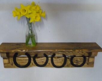 Old Horseshoe Farmhouse Coat/Key/Bridle Rack