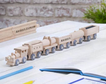 Personalised Wooden Freight Train, Personalised Wooden Name Train, Name Train, Wooden Name Train, Wooden Train, Baby Name Train