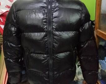 moncler classe 1 authentic, winter black jacket  lampo zipper down jacket