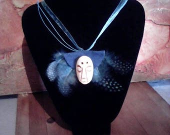 Felt necklace and small mask