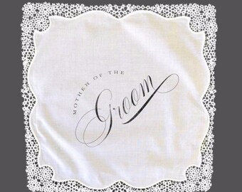 Mother of the Groom Lace Handkerchief