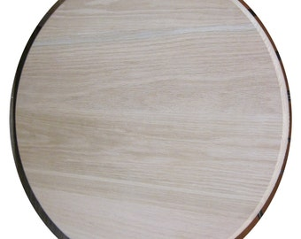 Solid wood red oak round table top restaurant table top FREE SHIPPING to USA and Canada