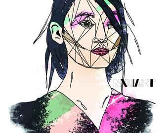 Digital / Wall Art/ Model / Portrait / Illustration