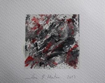 Paint 10 cm x 10 cm - Original acrylic painting. Abstract painting in acrylic, painting, art.
