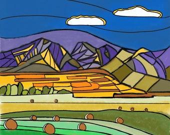 Abstract Praries Alberta Canada