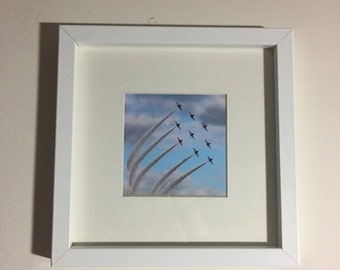 Framed Red Arrows Print - Square