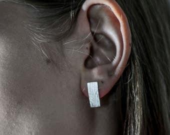 Blade Studs | Earrings (pierced) | Cast Blade of Grass | 925 Sterling Silver | Handmade | Stud Earrings | Organic | Matt and Polished