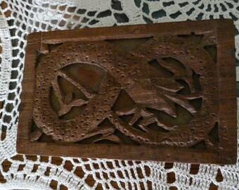 Vintage Ouroboros Wood Box