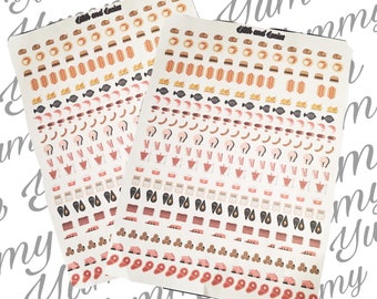Meat planner stickers