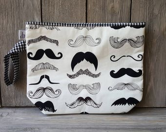 Mustachio! Fabric project bag