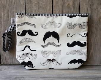 Mustachio! Fabric project bag