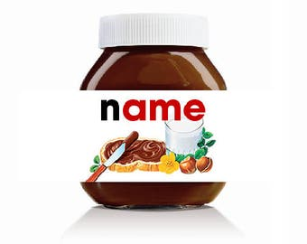 Personalised Original Theme Label For Nutella Jar