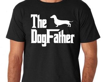 Dachsund t-shirt, Dachsund Tee, Dachsund Gift Idea, Funny Dachsund t shirt, shirt, Dogfather top,  Dachsund tee for him, Tshirt - 091