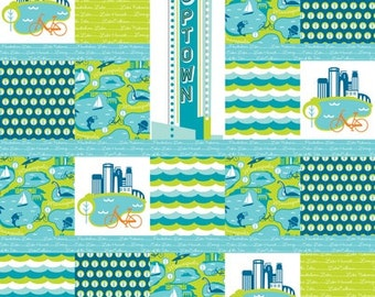 City Of Lakes Cheater Quilt Panel by Cindy Lindgren