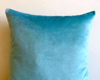 Turquoise Velvet Pillow Cover, Pillow Velvet, Turguoise Pillow, Designer Pillow, Velvet Pillows, Velvet Cushion Cover, Turquoise Sofa Pillow