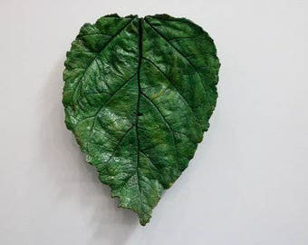 Leaf Cast- Hand Painted Cement