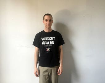 Vintage 90s 'You Don't Know Me.' Federal Witness Protection Program Shirt