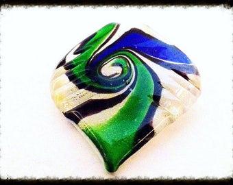 Murano Glass Spiral Pendant
