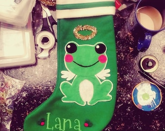Personalized Christmas Stocking - Cute! - Pick your favorite animal!