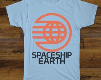 Spaceship Earth Tee In Light Blue T Shirt