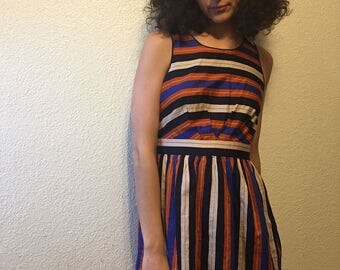 Vintage Striped Mini Dress