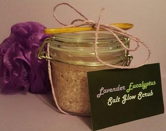 Lavender Eucalyptus Salt Glow Scrub
