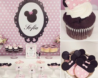Sweet Minnie Mouse First 1st Birthday Fully Customized and Delivered To Your Door