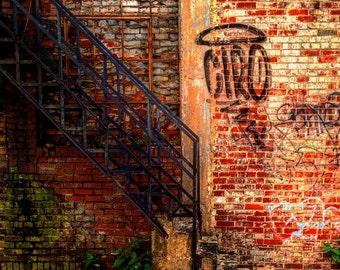Urban Architecture, Modern Art, Graffiti, Wall Art, Large Prints, Urban Decay, Home Decor, Living Room Art