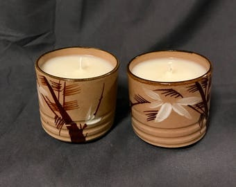 Set of 2 Tea Tree Scented Soy Candles