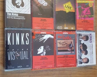 Vintage Lot of 8 Cassettes from The Kinks