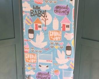 Special Delivery baby blanket, receiving blanket, stork baby blanket