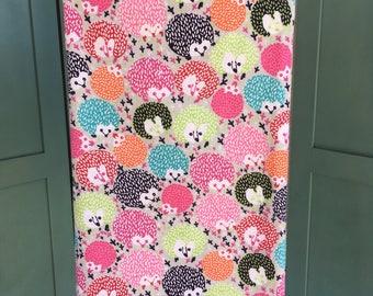 Hedgehog baby blanket, flannel baby blanket, receiving blanket, blanket with hedgehogs
