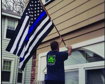 Thin Blue Line American Flag ~ Support Law Enforcement Blue Lives Matter