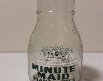 Vintage Minute Maid Glass Jug