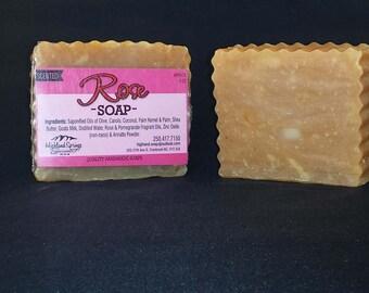 Rose Soap Handmade Soap Luxury Soap Boutique Soap Spa Soap Gift for Mom Cold Process Soap Near Natural Soap Bath Soap Artisan Soap Face Soap