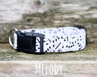 Dog Collar, Boy Dog Collar, Girl Dog Collar, Music Notes Collar, Melody