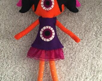 Eyeball custom plush gothic doll halloween