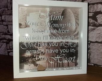 Memorial frame, mum, dad, gran, nan, grandad, nanna, memorial gift.