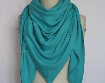 Female headscarf mid-season customizable made PomPoms hand