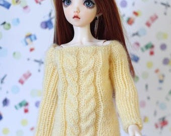 Knitted tunic for Minifee, MSD, BJD 1/4 doll