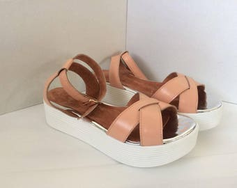 Leather Sandals Leather Shoes for Women Casual Shoes Shoes with platform Leather Flats