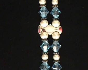 Swarovski Crystal, Pearl & Silver Bracelet