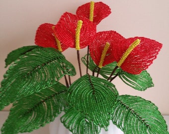 Beaded Anthurium